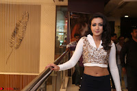 Catherine Tresa in a White Glittering Crop Top Black Leggings  Exclusive 002.JPG