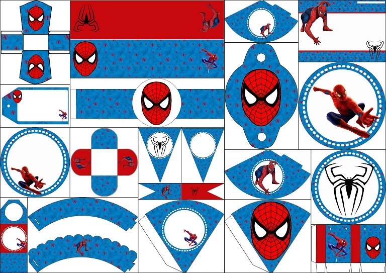 Spiderman blue background: Free Printable Kit. - Oh My Fiesta! for Geeks