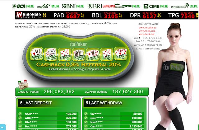 ITUPOKER Agen Sakong Online│Capsa Susun │Bandar Poker │Judi Domino QQ