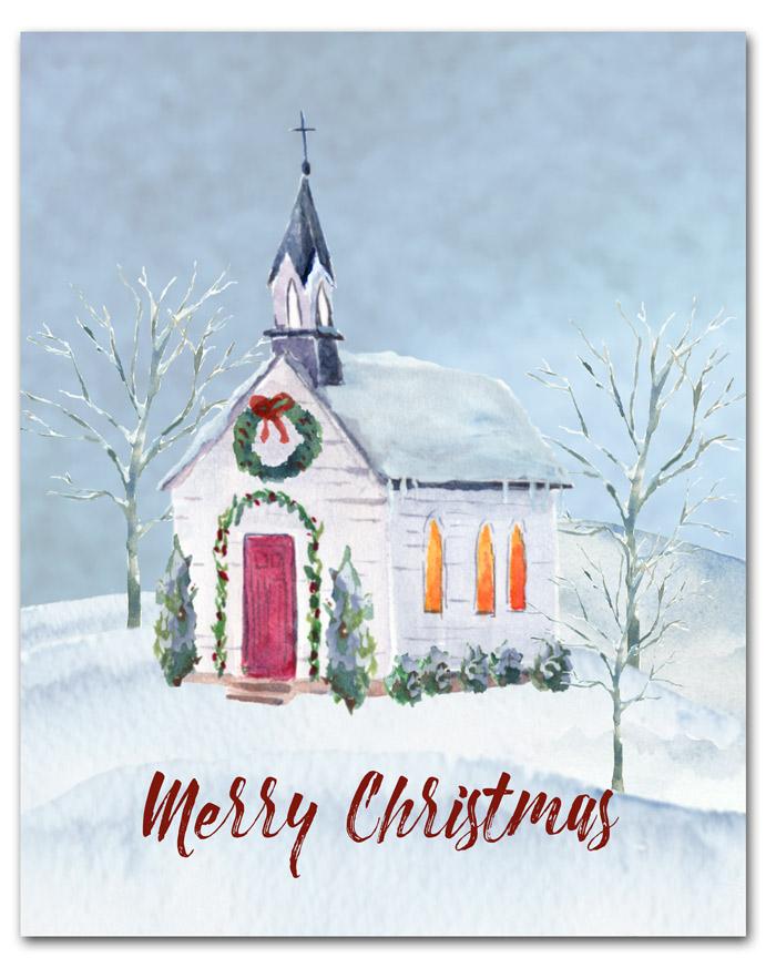 Christmas Church Printable