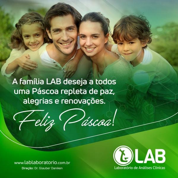 O laboratório LAB deseja a seus clientes uma Feliz Páscoa