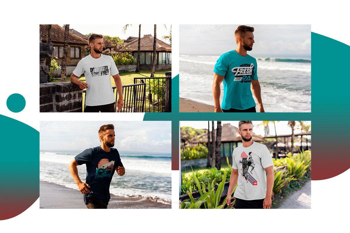 T Shirt Mock Up Tropic Weekend 3808013....