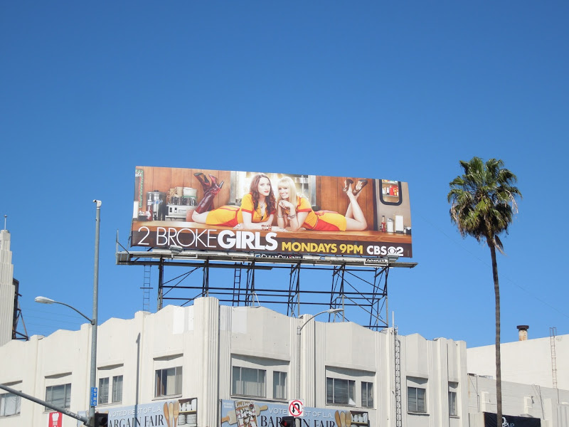 2 Broke Girls season 2 billboard