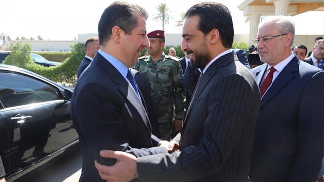 مسرور بارزاني ورئيس مجلس النواب محمد الحلبوسي