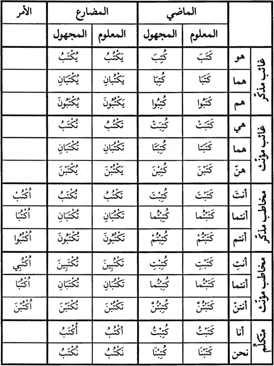 تصريف الافعال في اللغة التركية pdf