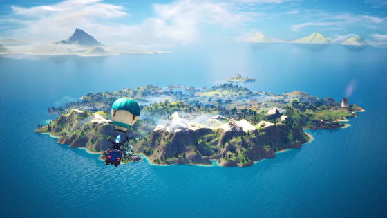THE NEW MAP OF FORTNITE
