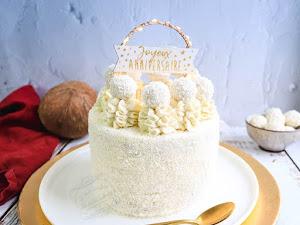 Gâteau raffaello ananas noix de coco