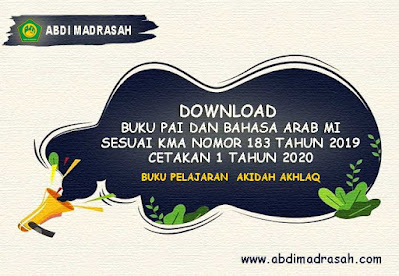 Download Buku Pelajaran Akidah Akhlaq MI Cetakan 1 Tahun 2020