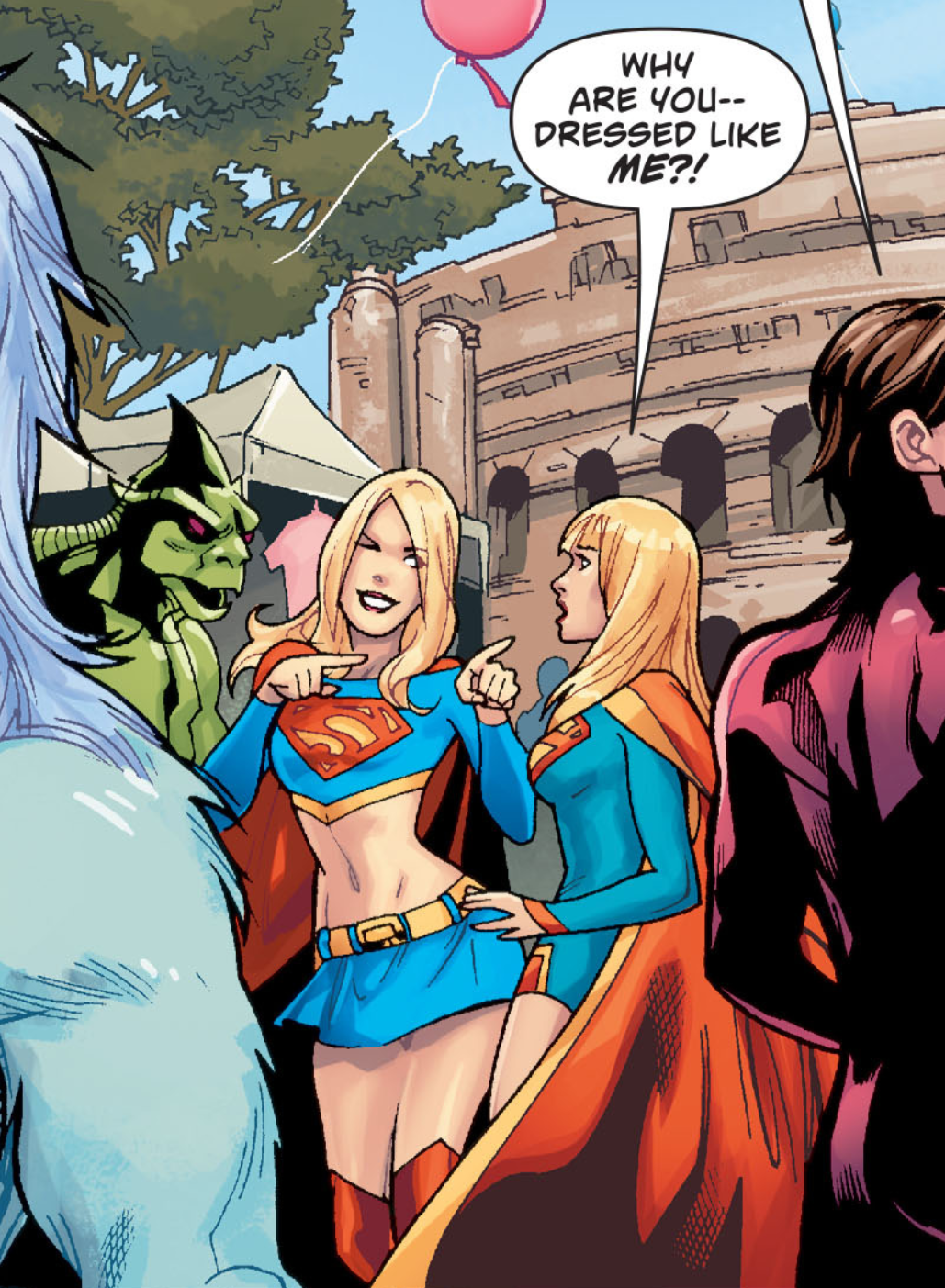 Supergirl meeting a Supergirl cosplayer