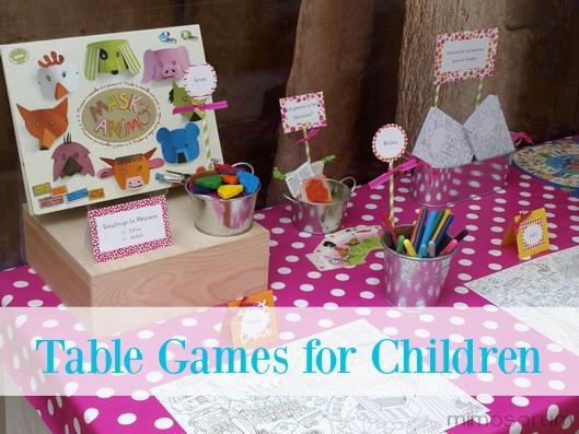 Cómo montar una mesa de juegos para los niños. Table Games for Children.