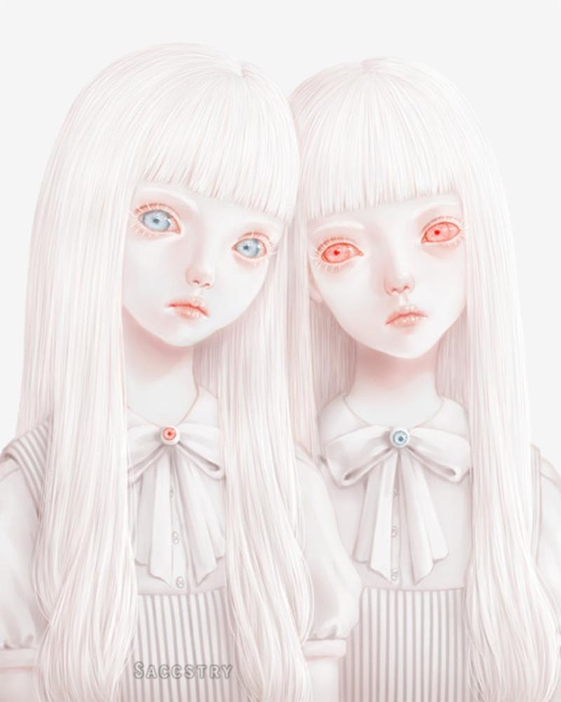 Delicadeza Macabra | Ilustrações de Saccstry