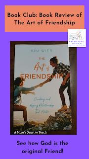 book cover of The Art of Friendship; Book Club: Book Review of The Art of Friendship; See how God is the original friend