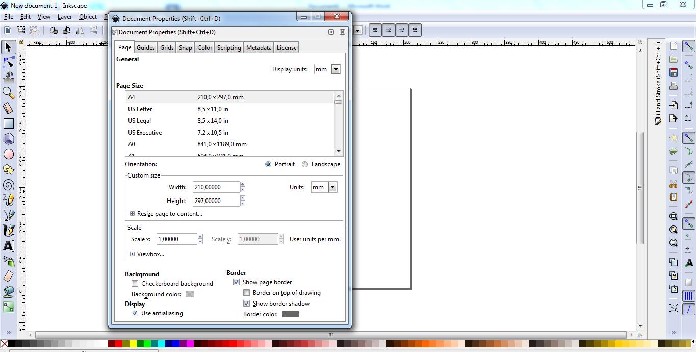 Cara Mengatur Ukuran Kertas Di Inkscape - Berbagai Ukuran