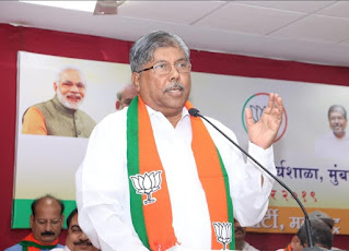 chandrkant patil angry on congress