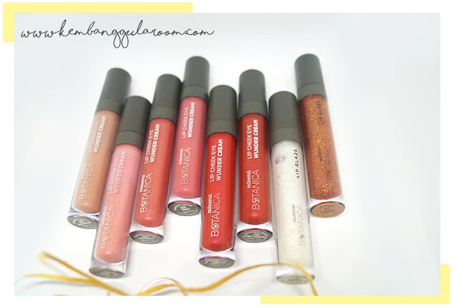 Mineral Botanica Lip Cheek Eye Wunder Cream dan Lip Glaze Review