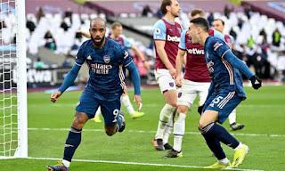 ملخص واهداف مباراة ارسنال ووست هام (3-3) الدوري الانجليزي