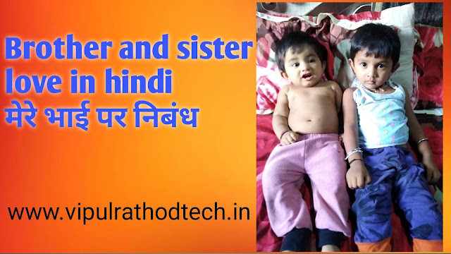 Brother and sister love in hindi | मेरे भाई पर निबंध