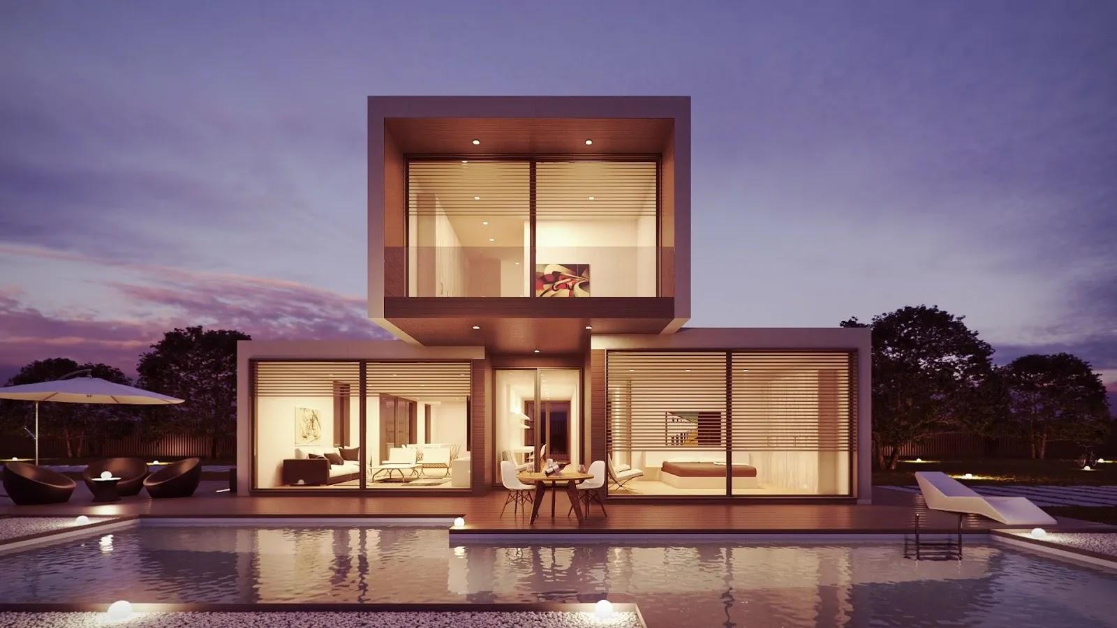 أجمل بيت فالعالم تصميم معماري مميز خلفيات
