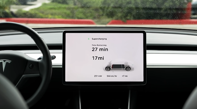 Tesla V3 Supercharging 5 Minutes Charge Are Enough For 120 Km In Model 3