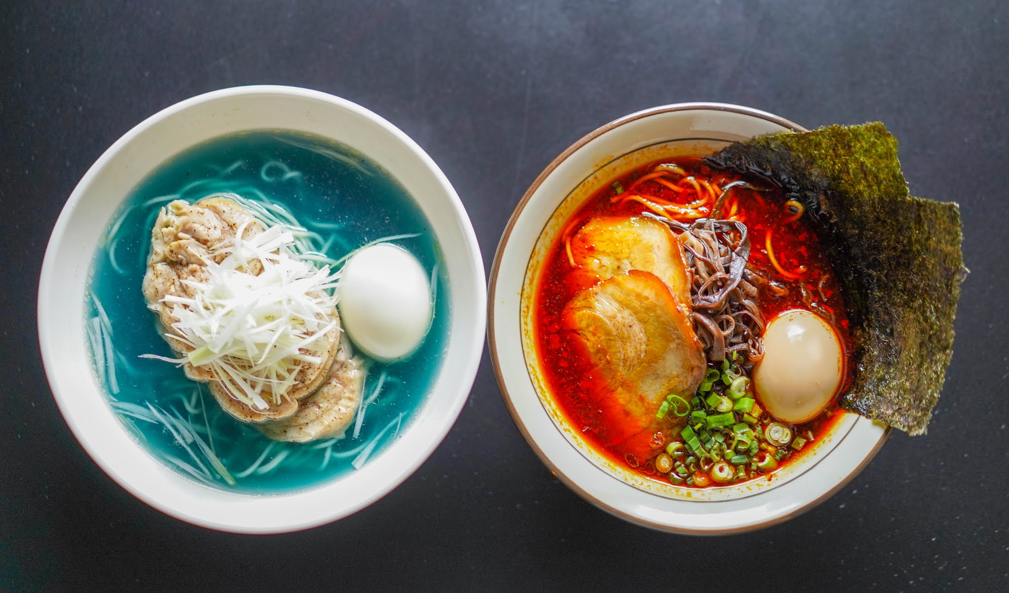 shin haru tei, jaya one: blue & red ramen specials
