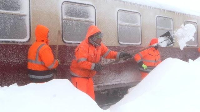 У Баварії доводиться відкопувати потяги