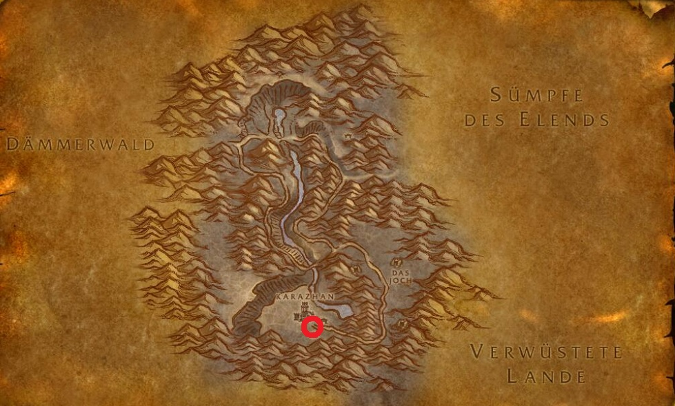 The quest begins in the Deadwind Pass, right next to Karazhan.