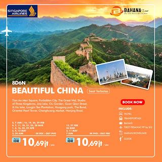 Paket Tour 8d6n Beautiful China 2020 Consortium Holiday