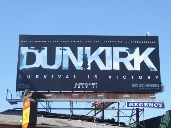 Dunkirk movie teaser billboard