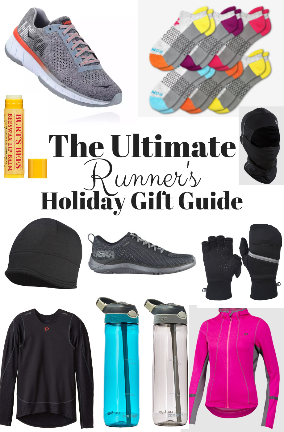 The Ultimate Runner's Holiday Gift Guide- A gift guide full of running gear including running shoes, cold-weather gear, running socks and more.