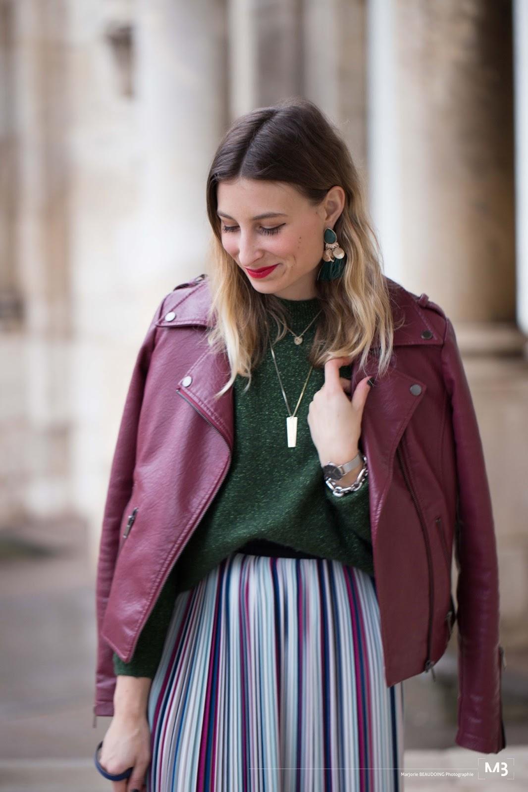 blog mode : look femme automne // jupe comptoir des cotonniers