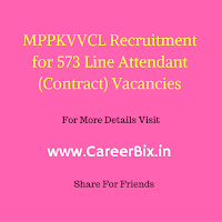 MPPKVVCL Recruitment for 573 Line Attendant (Contract) Vacancies