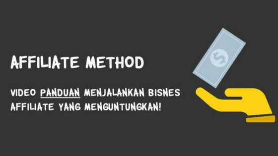 affiliate method, buat duit dengan affiliate