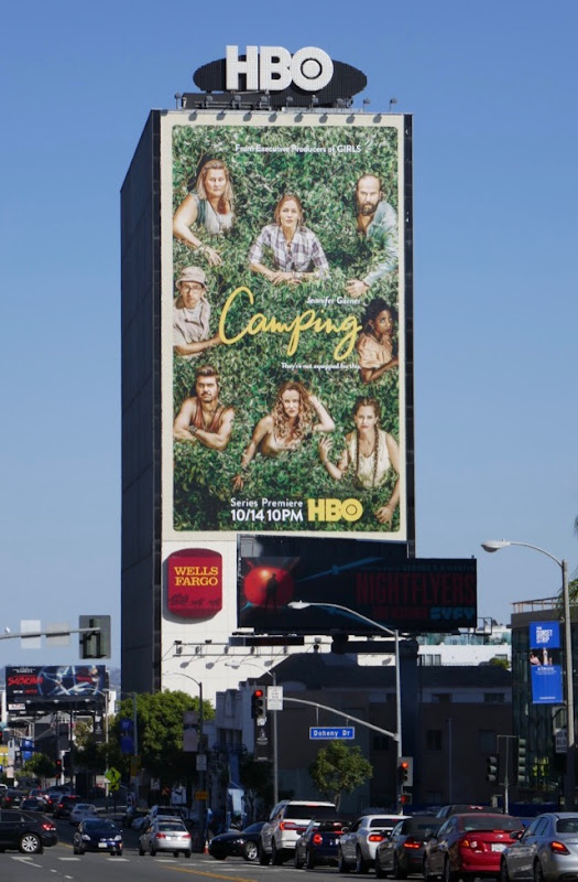 Giant Camping HBO series billboard