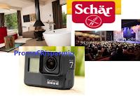 Logo Schar ''La mia vita Gluten Free'': vinci gratis GoPro, buono eventi e soggiorno