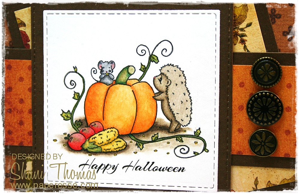 Happy Halloween! My Card Celebrating Todayu0027s Fete Features A Free Hedgehog  And Pumpkin Digital Stamp From Sliekje Stamps.