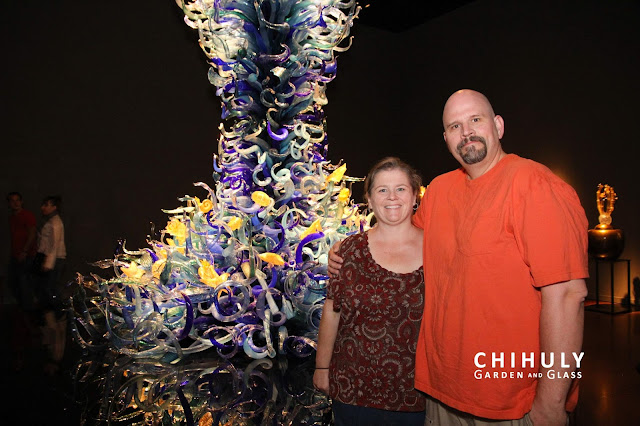 Peg and Bubba at Chihuly Glass