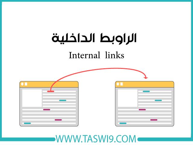 الراوبط الداخلية Internal links