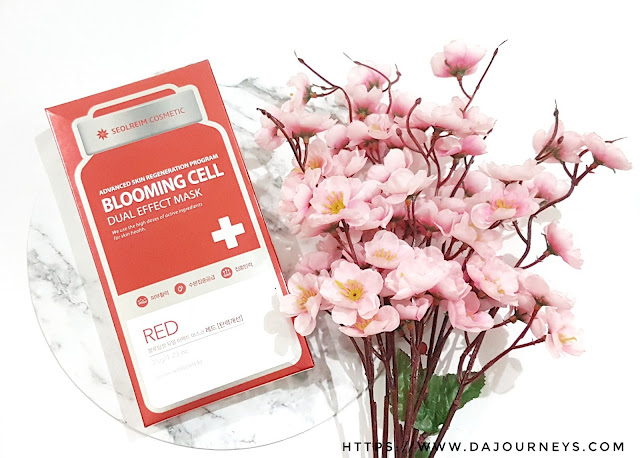 Review Blooming Cell Dual Effect Mask Red