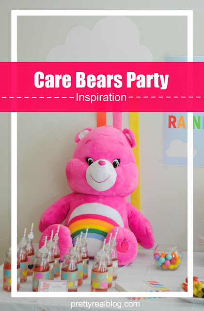 Huge Stuffed Care Bear at a Care Bears Rainbow Party