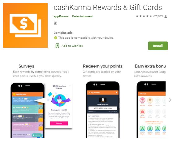 cashKarma rewards & gift free