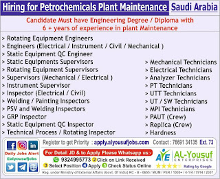 Petrochemicals Plant maintenance in Saudi Arabia