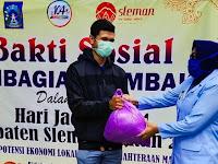 Sleman Bagi 150 Paket  Sembako  Bagi Warga Godean Terdampak Corona