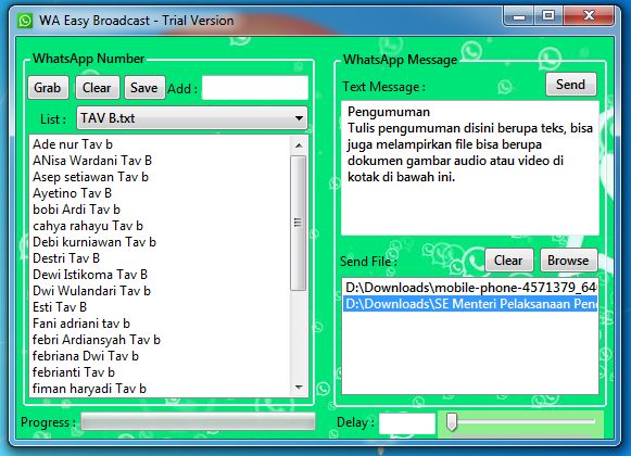 Aplikasi Wa Easy Broadcast Ribuan Pesan Tanpa Simpan Nomor Mulyono