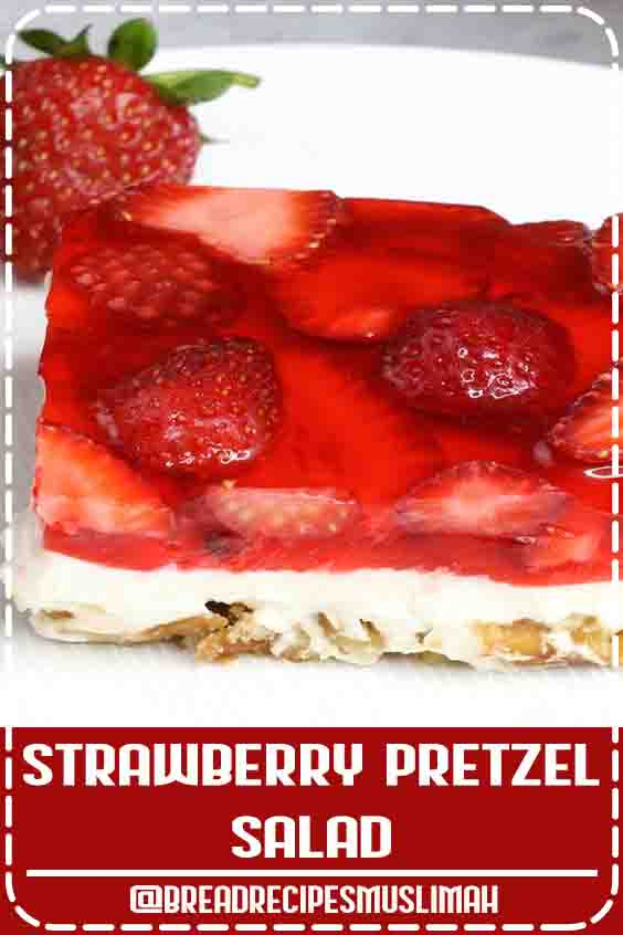 Strawberry Pretzel Salad –The delicious combination of the saltiness from its pretzel crust, sweetness from the creamy and smooth cream cheese, with the fresh flavor from the strawberry and jello top layer! So irresistible! #StrawberryPretzelSalad #easy #Fruit #Bread #Recipes #videos
