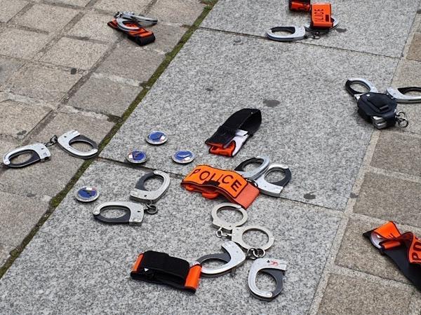 Une manifestation de policiers à Paris, après le verdict du procès de Viry-Châtillon