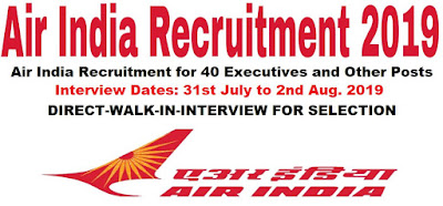 Air India Recruitment for 40 Executives and Other Posts