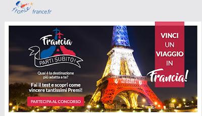concorso vinci un viaggio in Francia