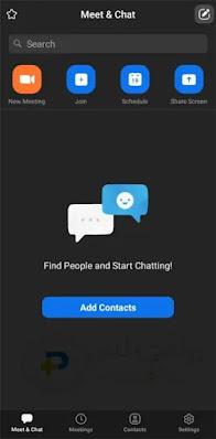 أنشاء أجتماع تطبيق Zoom Cloud Meetings