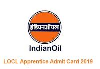LOCL Apprentice Admit Card