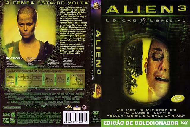 Capa DVD Alien³ (Edição Especial)